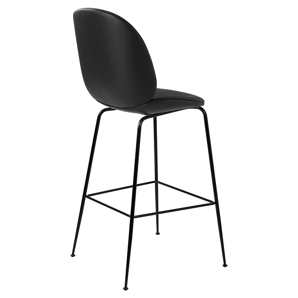 Brilliant Beetle Fully Upholstered Bar Chair Black Leather Black Base Machost Co Dining Chair Design Ideas Machostcouk