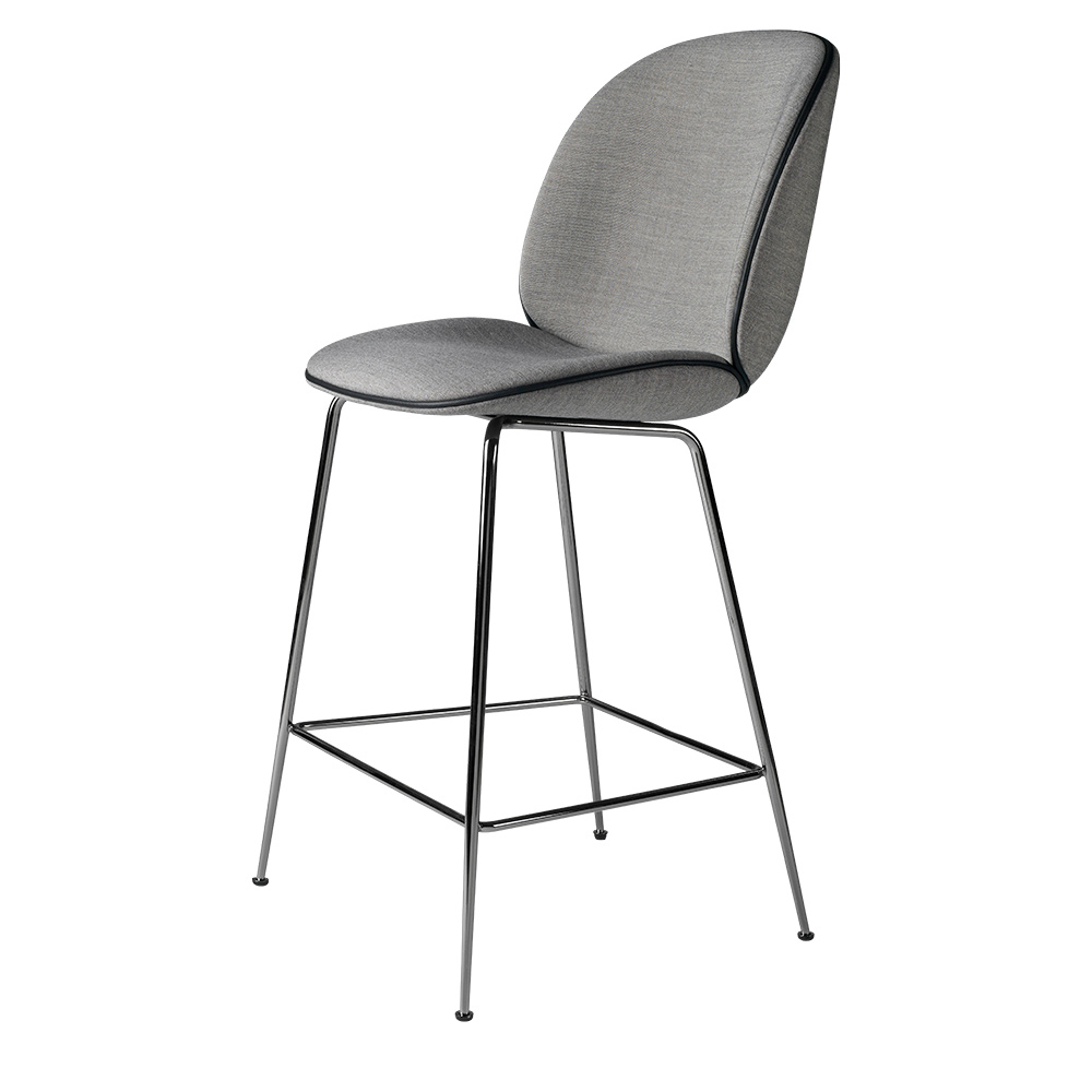 Beetle Fully Upholstered Counter Chair Gray Black