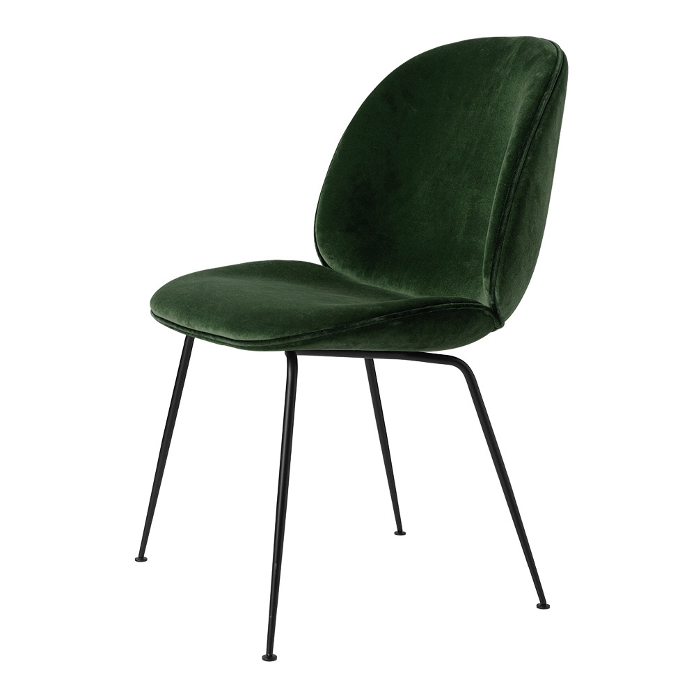 beetle fully upholstered dining chair green velvet black base rouse home. Black Bedroom Furniture Sets. Home Design Ideas