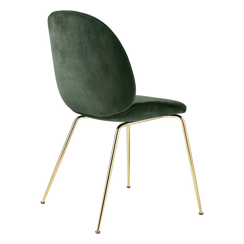 Beetle Upholstered Dining Chair - Green Velvet Brass Legs  sc 1 st  Rouse Home & Beetle Fully Upholstered Dining Chair u2013 Green Velvet Brass Base ...