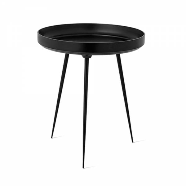 Bowl Table - Black Aluminum