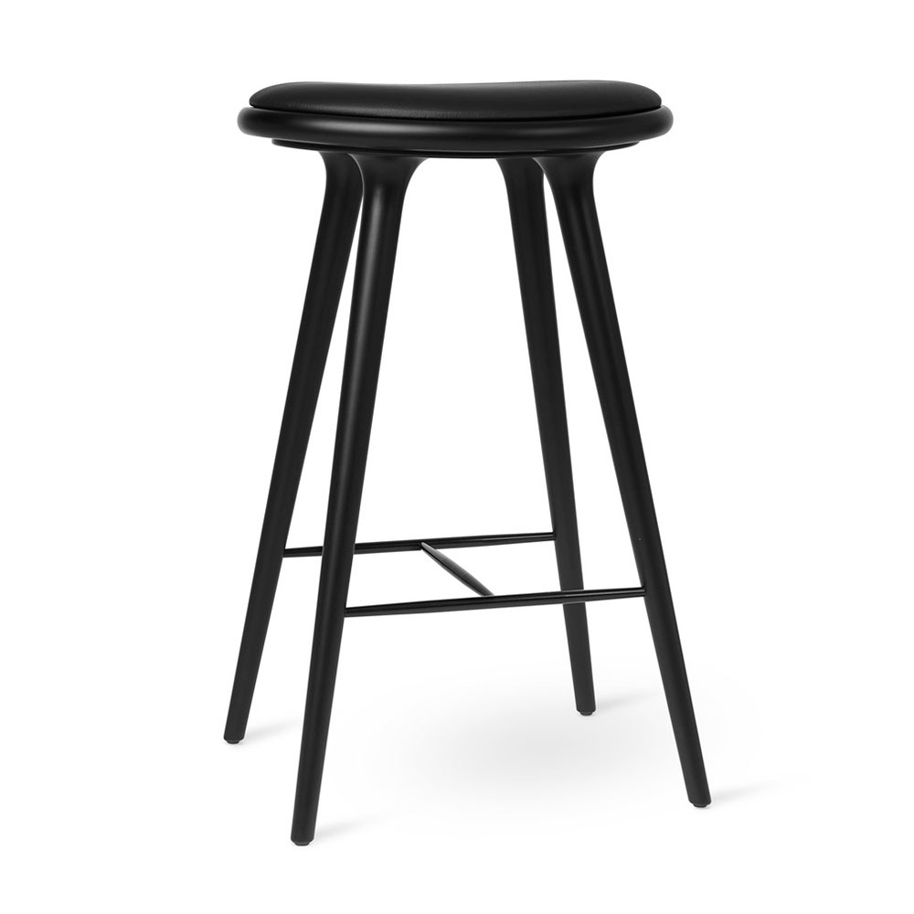Md Bar Stool Black Stained Beech Rouse Home