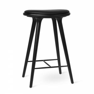 MD Counter Stool - Black Stained Oak
