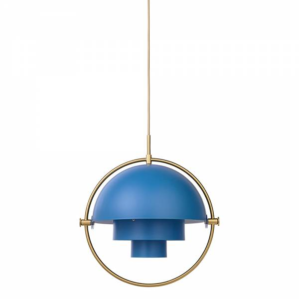 Multi-Lite Pendant - Blue, Brass