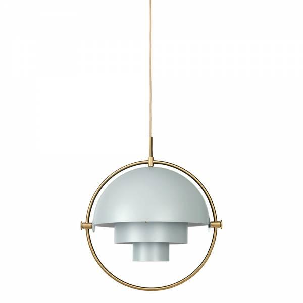 Multi-Lite Pendant - Blue Gray, Brass