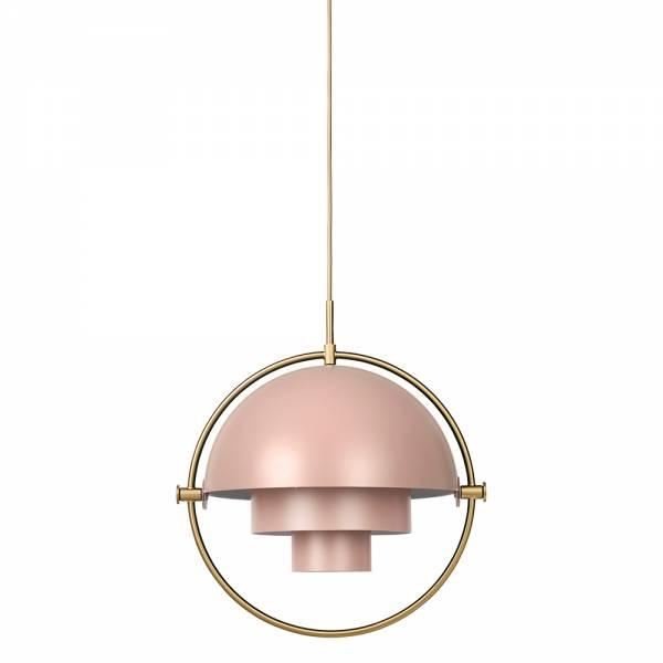 Multi-Lite Pendant - Pink, Brass