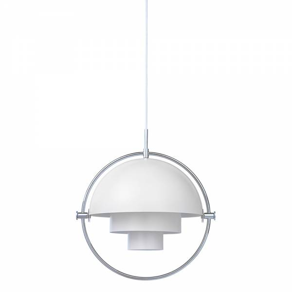 Multi-Lite Pendant - White, Chrome
