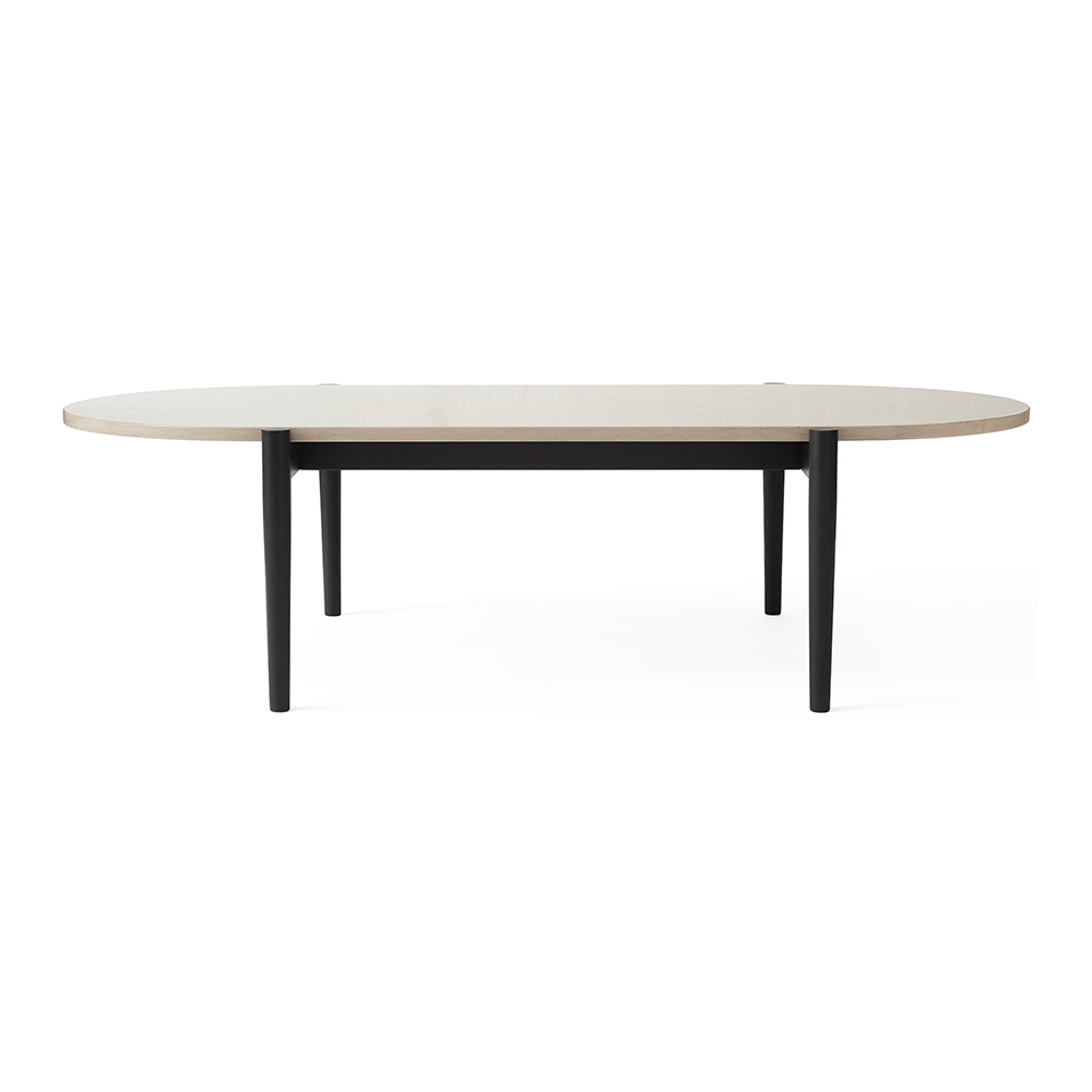 Black Coffee Table With Marble Top: Black, Gray Marble Top