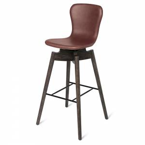 Shell Bar Stool - Cognac Leather, Brown