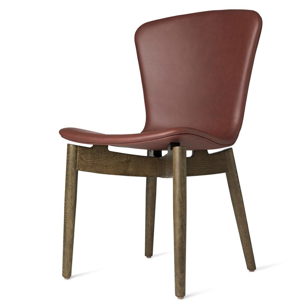 Bistro Cognac Brown Chair: Cognac Leather, Brown Oak