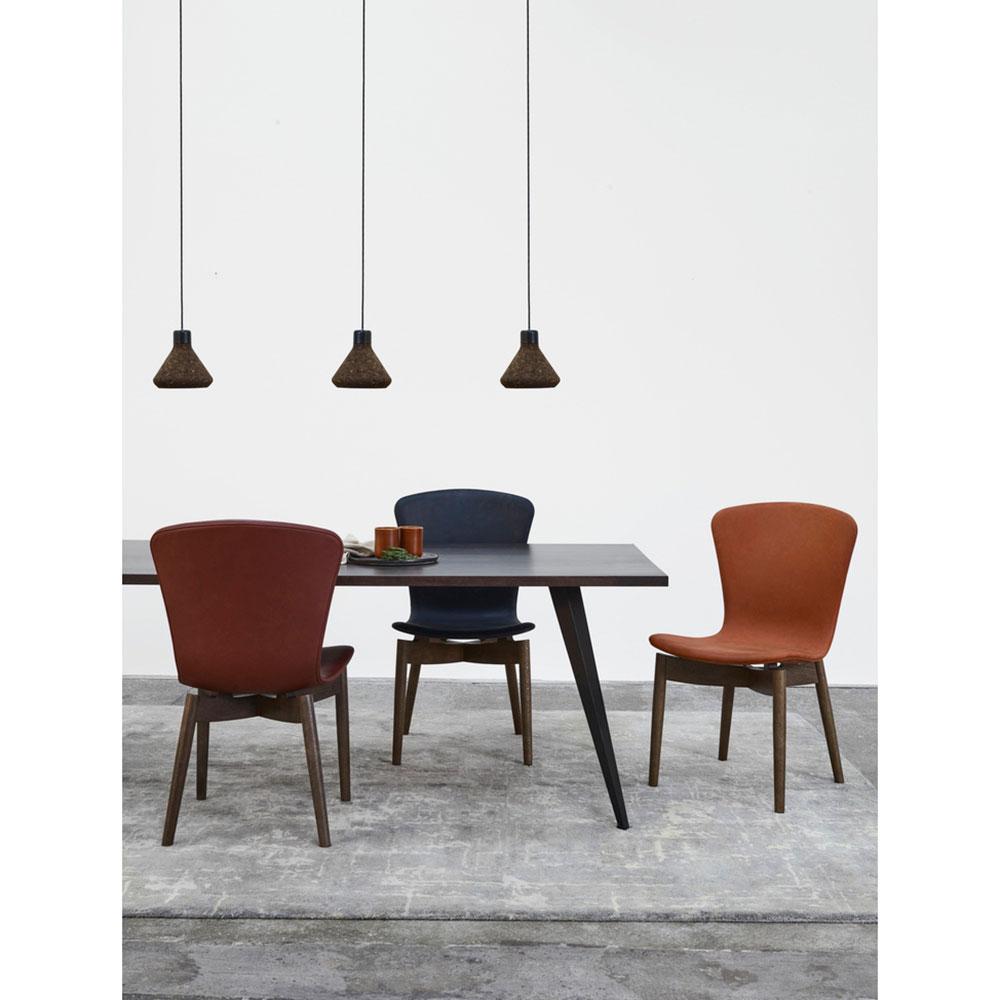 Stupendous Shell Dining Chair Cognac Leather Brown Oak Creativecarmelina Interior Chair Design Creativecarmelinacom
