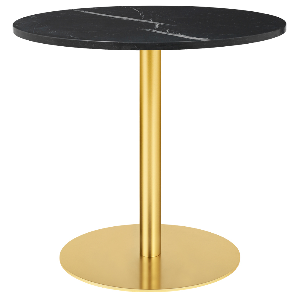 1 0 Round Dining Table Black Marble Br