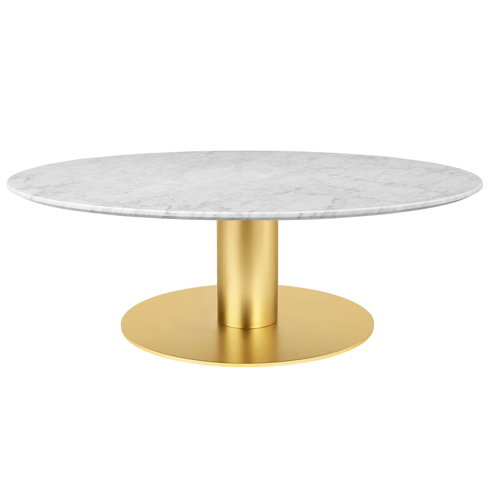 2 0 Round Coffee Table White Marble Br