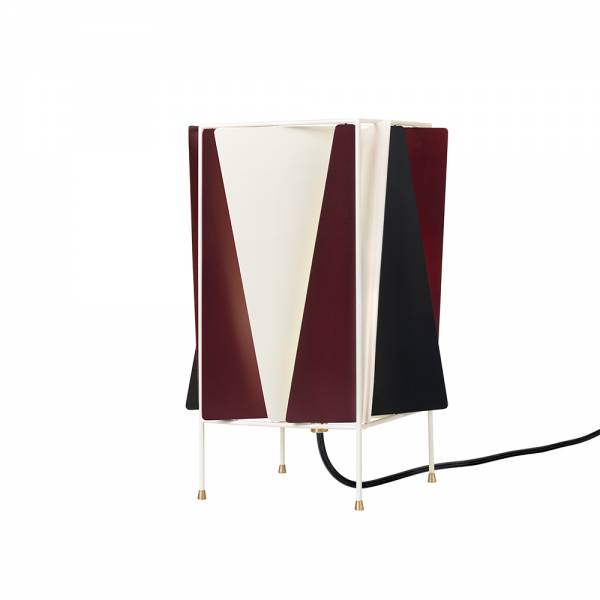 B-4 Table Lamp - Red, Black, White
