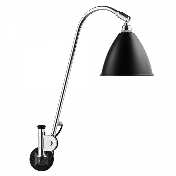 Bestlite Bl6 Hardwired Wall Lamp - Black, Chrome