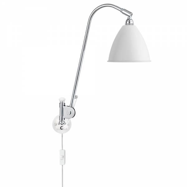 Bestlite Bl6 Plug In Wall Lamp - Matt White, Chrome