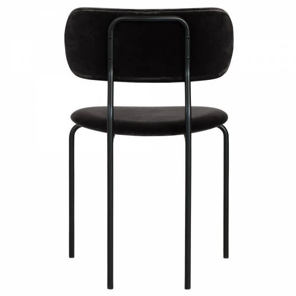 Coco Dining Chair - Black Velvet, Black Base