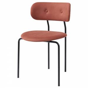 Coco Dining Chair - Red, Black Base