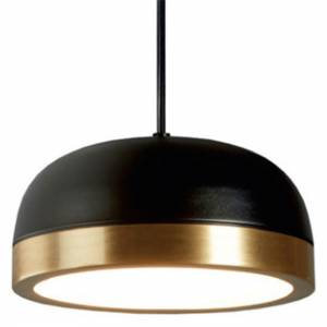 Molly Medium Pendant - Black, Brass