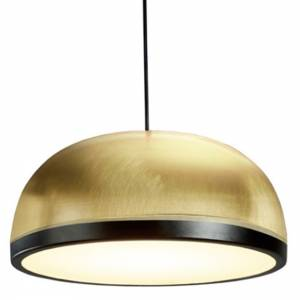 Molly Medium Pendant - Brass, Black