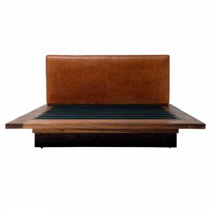 SQB Bed - Saddle Leather, Walnut