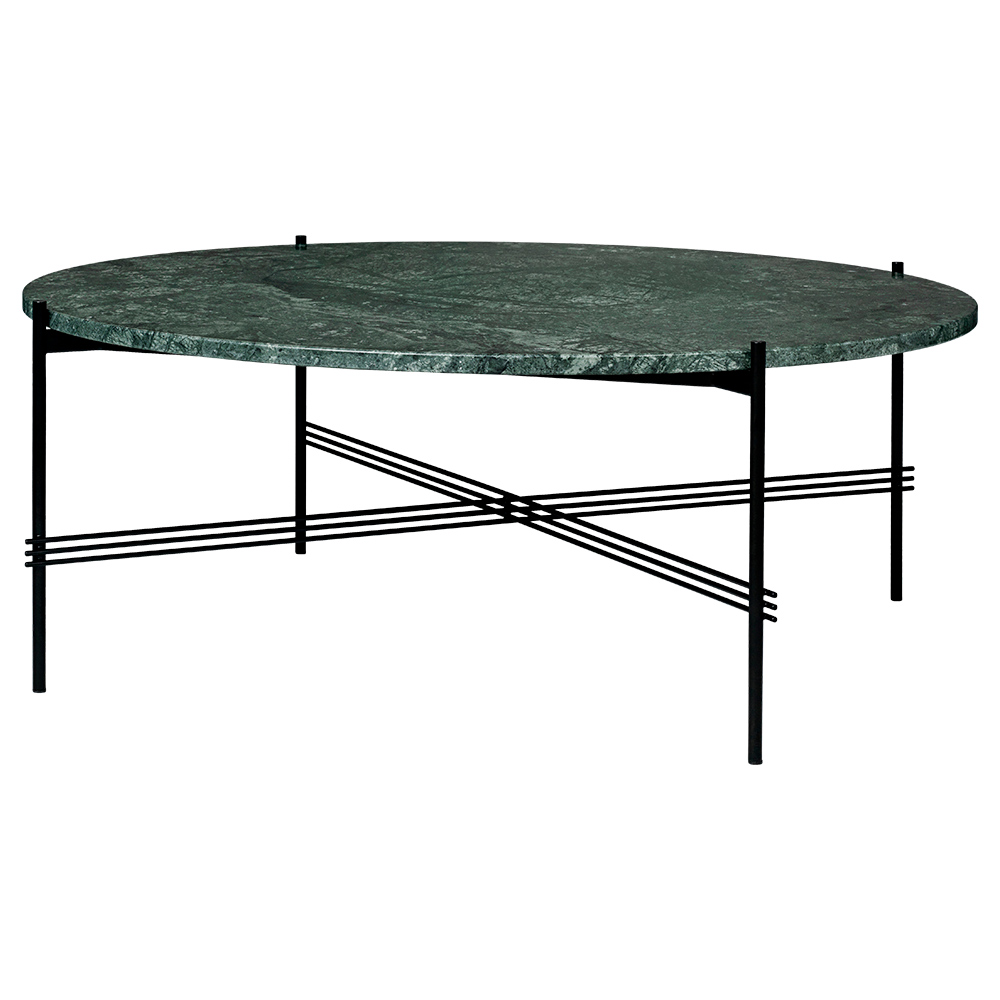 Ts Round Coffee Table Large Green Marble Black