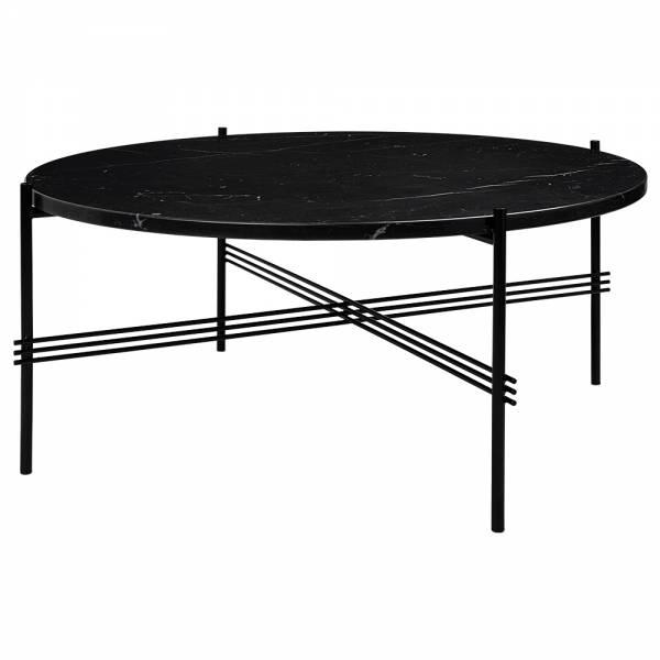 TS Round Coffee Table Medium - Black Marble, Black