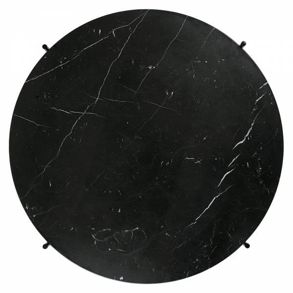 TS Round Coffee Table Medium - Black Marble, Brass