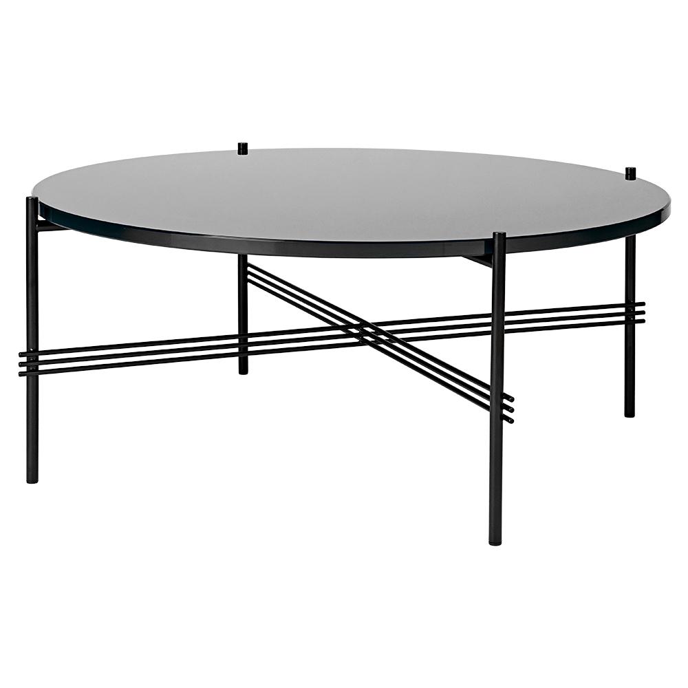 Ts Round Coffee Table Medium Graphite Black Glass Black