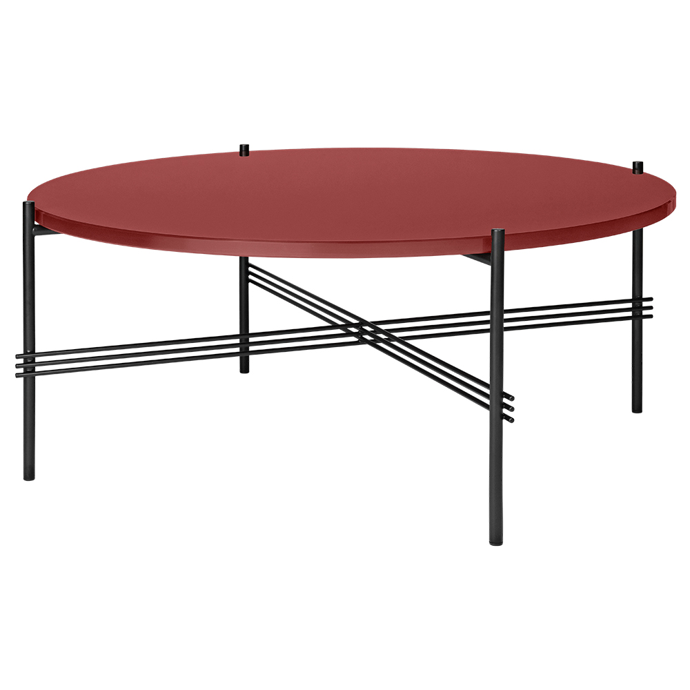 Black Glass Round Coffee Table: TS Round Coffee Table Medium