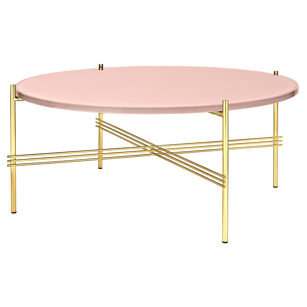 Antique Brass And Glass Round Coffee Table: TS Round Coffee Table Medium