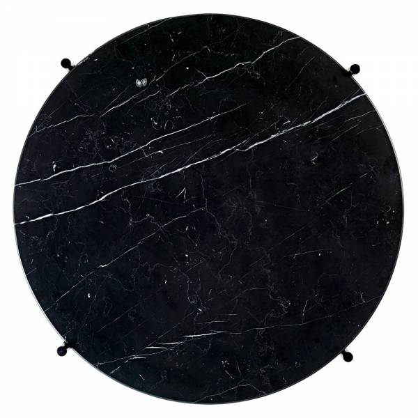 TS Round Coffee Table Small - Black Marble, Black