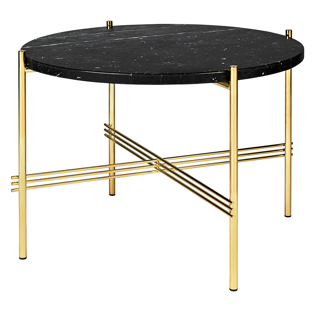 Ts Round Coffee Table Small Black Marble Br