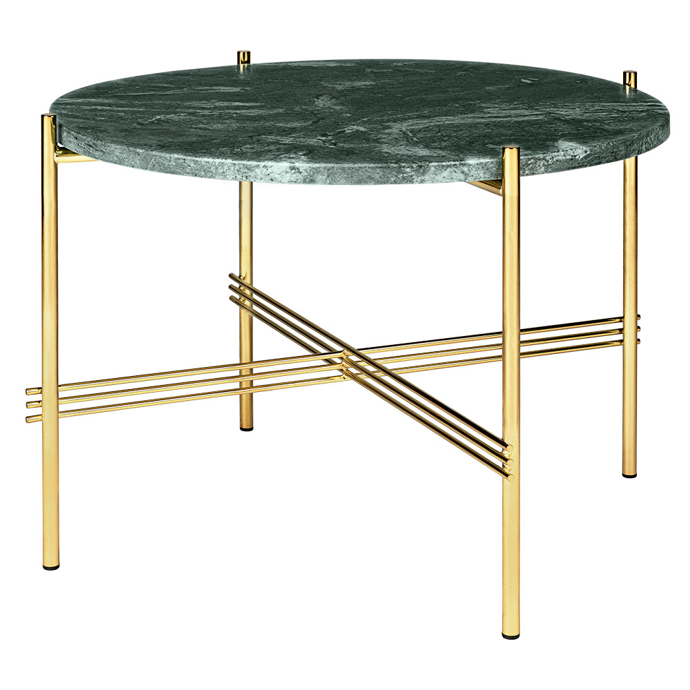 Ts Round Coffee Table Small Green Marble Brass