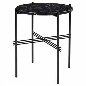 TS Side Table - Black Marble, Black