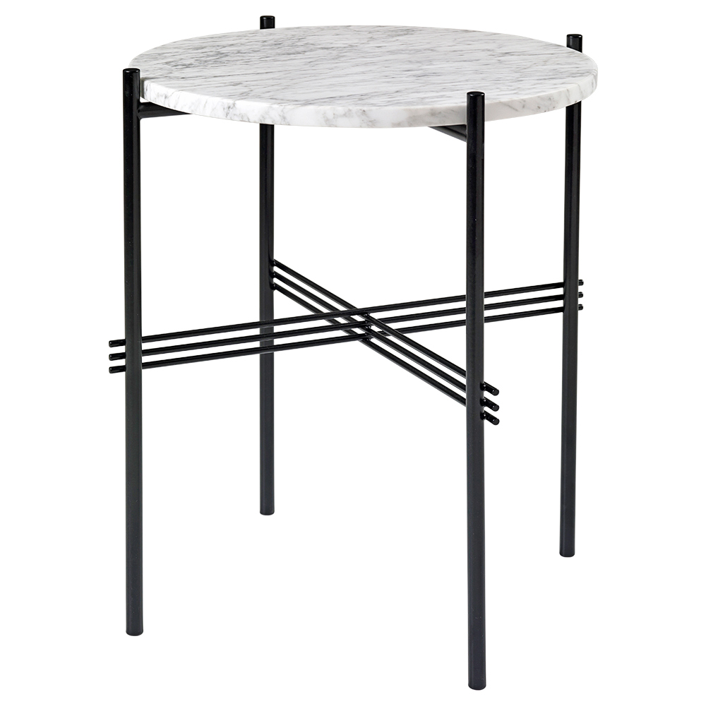 new concept b70a0 c82f6 TS Side Table - White Marble, Black