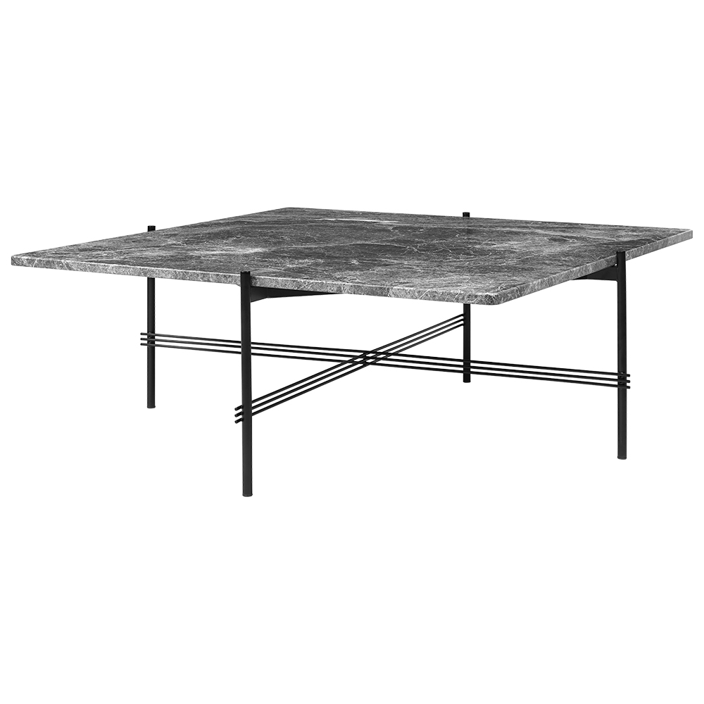 Ts Square Coffee Table Large Gray Marble Black