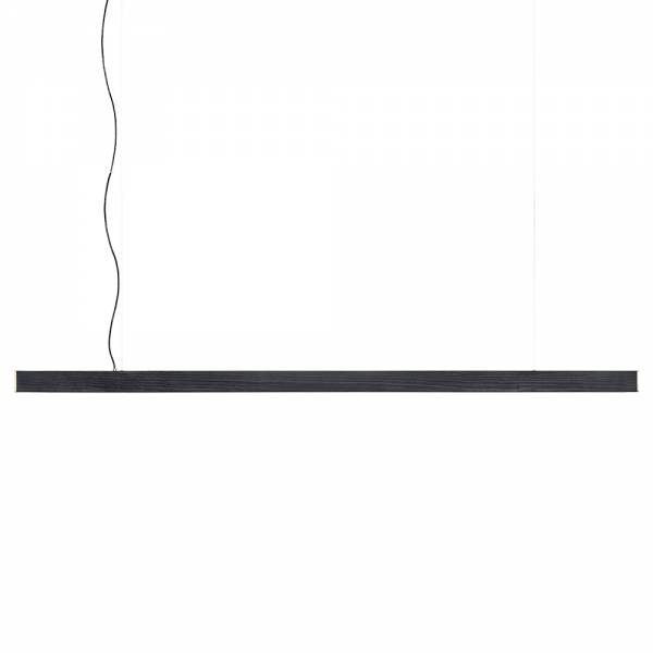 2x4 Large Pendant - Black Dyed Pine, Brushed Brass