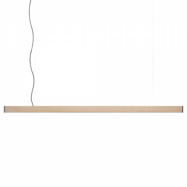 2x4 Large Pendant - Natural Pine, Blackened Steel
