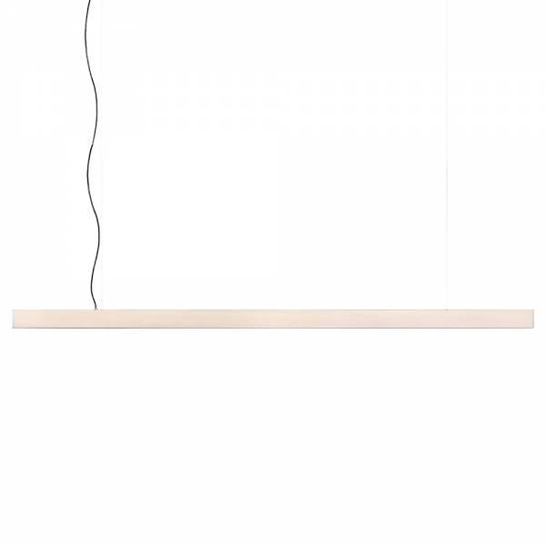 2x4 Large Pendant - Whitewashed Pine, Brushed Brass
