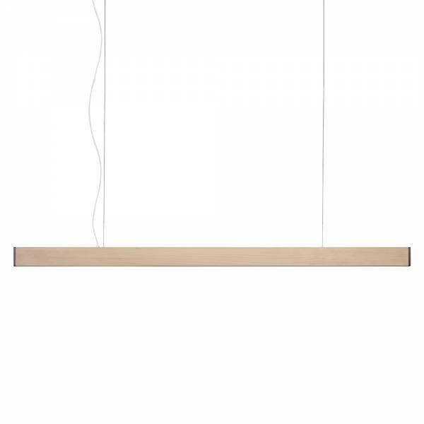 2x4 Medium Pendant - Natural Pine, Brushed Brass