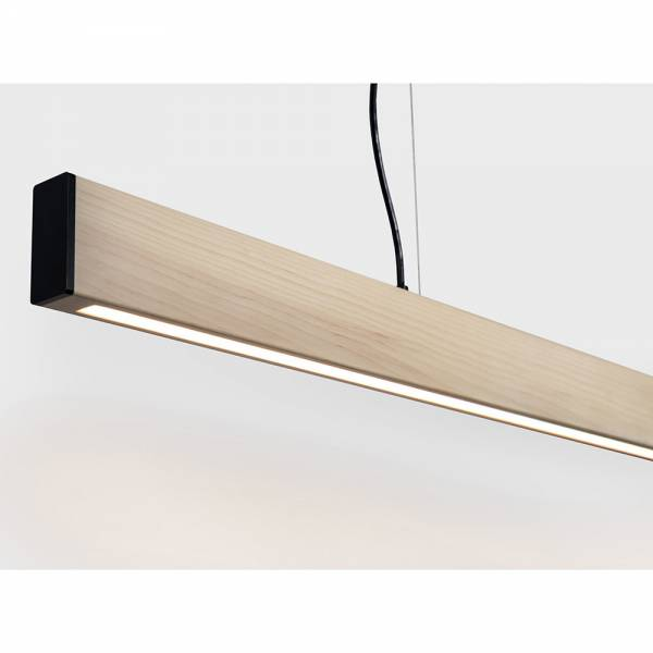 2x4 Small Pendant - Natural Pine, Brushed Brass