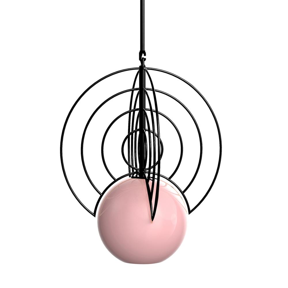 Aeneas Black Light Pink Globe