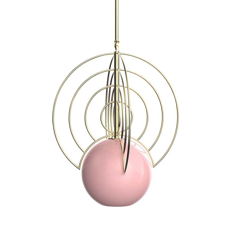 Aeneas Gold Light Pink Globe