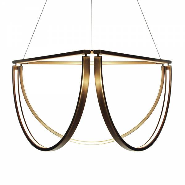Chord Cluster Chandelier - Bronze, LED 2500K | Rouse Home