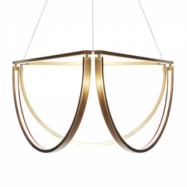 Chord Cluster Chandelier - Mottled Brass, LED 2800K | Rouse Home