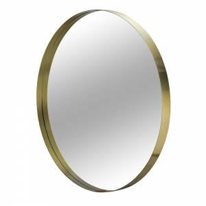 Darcy Round Brass Mirror
