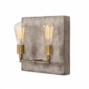 Factory Double Sconce - Aged Brass
