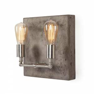 Factory Double Sconce - Nickel