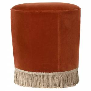 Gubi Pouf Small - Red Velvet